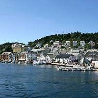 Farsund en sommersdag. Båtliv på Sørlandet.