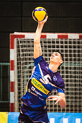 Alen Sket of Merkur Maribor during 3rd Leg of Volleyball match between ACH Volley and OK Merkur Maribor in Final of 1. DOL League 2020/21, on April 20, 2021 in SD Tabor, Maribor, Slovenia. Photo by Blaž Weindorfer / Sportida
