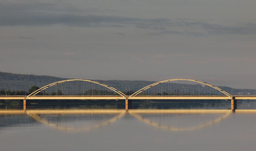 Finland Lapland - Avasaksa bridge over Torne river