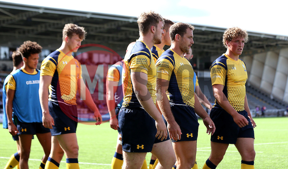 Worcester Warriors prepare to take on Newcastle Falcons in the Singha Premiership Rugby 7s - Mandatory by-line: Robbie Stephenson/JMP - 30/07/2016 - RUGBY - Kingston Park - Newcastle, England - Worcester Warriors v Newcastle Falcons - Singha Premiership 7s