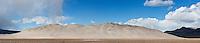 Eureka dunes rising from desert floor, Death Valley national park, California