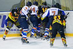 SLOHOKEJ league ice hockey match between HK Slavija and HK Triglav Kranj, on February 3, 2010 in Arena Zalog, Ljubljana, Slovenia. Triglaw won 4:1. (Photo by Vid Ponikvar / Sportida)