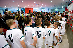 Fans at visit  of Slovenian National Football team in Mobitel center, on May 19, 2010 in Ciytpark, BTC, Ljubljana, Slovenia. (Photo by Vid Ponikvar / Sportida)