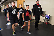 DALLAS, TX - MARCH 14:  Sergio Pettis walks to the octagon to fight Ryan Benoit during UFC 185 at the American Airlines Center on March 14, 2015 in Dallas, Texas. (Photo by Cooper Neill/Zuffa LLC/Zuffa LLC via Getty Images) *** Local Caption *** Sergio Pettis