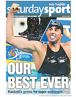 It's always a privilege to be capturing great athletes at their best. Australia's Grant Hackett was firing on all cylinders when qualifying for the Beijing Olympics. Hackett at the time thought he was part of the best ever squad to represent the country. (Copyright Michael Dodge/Daily Telegraph)