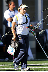 Michelle Acquesta durante as eliminatórias do tiro com arco nos jogos Pan-Americanos de Guadalajara 2011. FOTO: Jefferson Bernardes/Preview.com