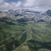 An aerial of the Brooks Range in Artic National Wildlife Refuge in Alaska.