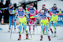 Vesna Fabjan (SLO) and Alenka Cebasek (SLO) during the ladies team sprint race at FIS Cross Country World Cup Planica 2016, on January 17, 2016 at Planica, Slovenia. Photo by Ziga Zupan / Sportida
