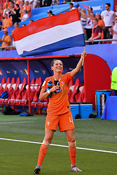 June 30, 2019 - Valenciennes, France - Merel Van Dongen (NED) celebrates the win of the quarter-final between in ITALY and NETHERLANDS the 2019 women's football World cup at Stade du Hainaut, on the 29 June 2019. (Credit Image: © Julien Mattia/NurPhoto via ZUMA Press)