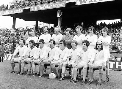 The Armagh team before the start of the All Ireland Senior Gaelic Football Semi Final Replay Roscommon v Armagh in Croke Park on the 28th August 1977. Armagh 0-15 Roscommon 0-14.