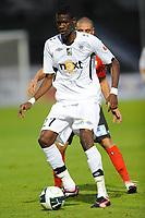 FOOTBALL - FRENCH CHAMPIONSHIP 2010/2011 - L2 - ANGERS SCO v US BOULOGNE - 13/08/2010 - PHOTO PASCAL ALLEE / DPPI - FEREBORY DORE (SCO) / LAURENT AGOUZI (BOU)
