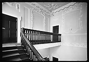 Interior & Exterior of South Leinster Street. (asbestos cement) <br /> 1970.<br /> 14.10.1970.<br /> 10.14.1970.<br /> 14th October 1970.<br /> The Interior and exterior of No 6 South Leinster House.<br /> <br /> The image shows the ornate landing fronting the ornate wall panels in the house.