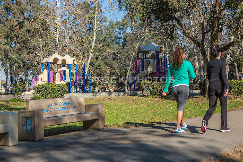 Friends Walking at Jack Green Nature and Play Area