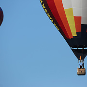 Hot Air balloons take to the skies around rural Michigan near Battle Creek during the World Hot Air Ballooning Championships. Battle Creek, Michigan, USA. 21st August 2012. Photo Tim Clayton