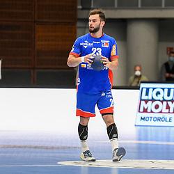 Balingen-Weilstettens Zintel, Björn / Bjoern am Ball beim Spiel in der Handball Bundesliga, Die Eulen Ludwigshafen - HBW Balingen-Weilstetten.<br /> <br /> Foto © PIX-Sportfotos *** Foto ist honorarpflichtig! *** Auf Anfrage in hoeherer Qualitaet/Aufloesung. Belegexemplar erbeten. Veroeffentlichung ausschliesslich fuer journalistisch-publizistische Zwecke. For editorial use only.