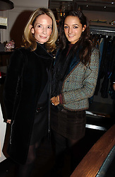 Left to right, MRS MARTIN SUMMERS and her daughter in law MRS ALEXANDER PETO at a jewellery party hosted by Osanna Visconti and Pia Marocco at Allegra Hick's shop, 28 Cadogan Place, London on 25th November 2004.<br />