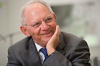 16 NOV 2016, BERLIN/GERMANY:<br /> Wolfgang Schaeuble, CDU, Federal Minister of Finance, during an Interview, in his office, Federal Ministy of Finance<br /> Wolfgang Schaeuble, CDU, CDU, Bundesfinanzminister, waehrend einem Interview, in seinem Buero, Bundesministerium der Finanzen<br /> IMAGE: 20161116-02-038<br /> KEYWORDS: Wolfgang Schäuble, Büro