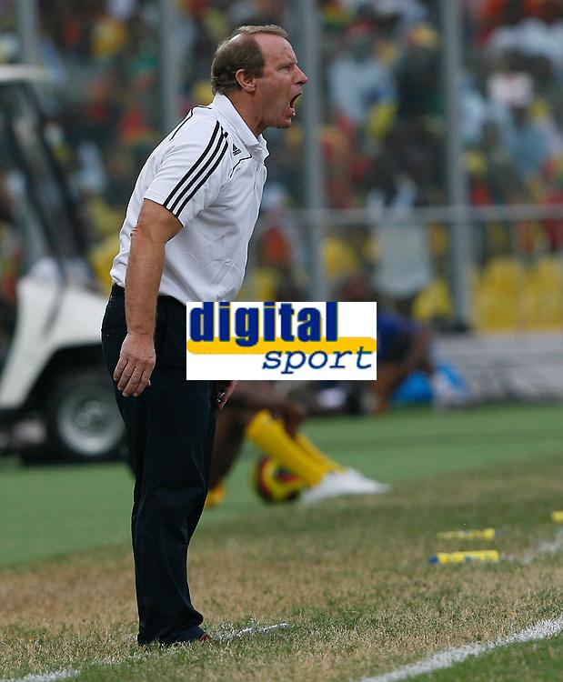 Photo: Steve Bond/Richard Lane Photography.<br />Ghana v Nigeria. Africa Cup of Nations. 03/02/2008. Bertie Vogts shouts instructions