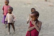 Ngare Sero, TANZANIA. August 11th 2009..Maasai kids.