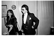 ELISE MORRIS; PHIL SPECTOR, ROCK AND ROLL HALL OF FAME, Waldorf, New York. 16 January 1991,<br /> <br /> SUPPLIED FOR ONE-TIME USE ONLY> DO NOT ARCHIVE. © Copyright Photograph by Dafydd Jones 248 Clapham Rd.  London SW90PZ Tel 020 7820 0771 www.dafjones.com