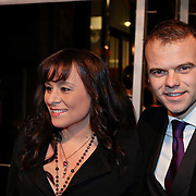 NLD/Amsterdam/20081208 - Premiere Wit Licht, Trijntje Oosterhuis en partner Sander van Eeden