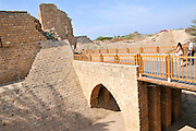 Themoat around Caesarea, on the Mediterranea sea, Israel