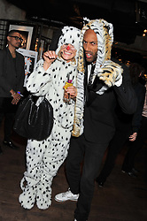 LEAH de WAVRIN and TOM CARR at the Wild for WSPA dinner in aid of the charity World Society for the Protection of Animals held at Under The Bridge, Stamford Bridge, Fulham Road, London on 23rd February 2012.