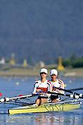 Sydney. AUSTRALIA. 2000 Summer Olympic Regatta, Penrith. NSW.  <br /> <br /> GER LW2X. Bow, VIEHOFF, Valerie and BLASBERG, Claudia, Silver medalist<br /> <br /> <br /> [Mandatory Credit Peter SPURRIER/ Intersport Images] Sydney International Regatta Centre (SIRC) 2000 Olympic Rowing Regatta00085138.tif