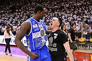 DESCRIZIONE : Campionato 2014/15 Serie A Beko Grissin Bon Reggio Emilia - Dinamo Banco di Sardegna Sassari Finale Playoff Gara7 Scudetto<br /> GIOCATORE : Rakim Sanders Emanuele Fara<br /> CATEGORIA : Postgame Ritratto Esultanza<br /> SQUADRA : Dinamo Banco di Sardegna Sassari<br /> EVENTO : LegaBasket Serie A Beko 2014/2015<br /> GARA : Grissin Bon Reggio Emilia - Dinamo Banco di Sardegna Sassari Finale Playoff Gara7 Scudetto<br /> DATA : 26/06/2015<br /> SPORT : Pallacanestro <br /> AUTORE : Agenzia Ciamillo-Castoria/L.Canu