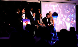 Bristol Flyers Coach Andreas Kapoulas is interviewed on stage at Bristol Sport's Annual Gala Dinner at Ashton Gate Stadium - Mandatory by-line: Robbie Stephenson/JMP - 08/12/2016 - SPORT - Ashton Gate - Bristol, England  - Bristol Sport Gala Dinner