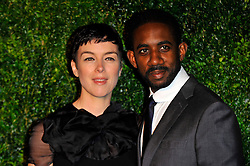 Olivia Williams and Rhashan Stone attends the 58th London Evening Standard Theatre Awards in association with Burberry, London, UK, November 25, 2012. Photo by Chris Joseph / i-Images.
