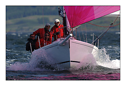 The final day of the Bell Lawrie Scottish Series, breezy and bright conditions from the North allowed the sailors to compete on a level par...Sportsboat J80 Jazolino, GBR1696R..