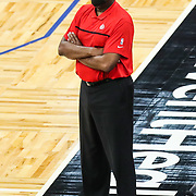 ORLANDO, FL - MARCH 03: Atlanta Hawks interim head coach Nate McMillan watches play against the Orlando Magic during the second half at Amway Center on March 3, 2021 in Orlando, Florida. NOTE TO USER: User expressly acknowledges and agrees that, by downloading and or using this photograph, User is consenting to the terms and conditions of the Getty Images License Agreement. (Photo by Alex Menendez/Getty Images)*** Local Caption *** Nate McMillan