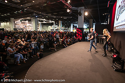 One Way Machine of Germany was the winner of the Modified Harley class in the AMD World Championship of Custom Bike Building awards ceremony in the Intermot Customized hall during the Intermot International Motorcycle Fair. Cologne, Germany. Sunday October 7, 2018. Photography ©2018 Michael Lichter.