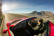 Ecurie25 super car club launching in South Africa. Images of Ferrari 458 Spyder and Maserati Gran Cabrio Sport taken in front of Table Mountain, Cape Town by photographer Greg Beadle Commercial photography commissioned to Beadle Photo by international brands