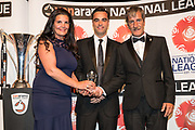 Respect and fair play award, Brackley Town during the National League Gala Awards Evening at Celtic Manor Resort, Newport, South Wales on 9 June 2018. Picture by Shane Healey.