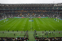 Rugby Union - 2018 / 2019 Gallagher Premiership (East Midlands Derby in aid of Rob Horne) - Northampton Saints vs. Leicester Tigers<br /> <br /> Retired Northampton Saints Centre Rob Horne carries the match ball out onto the pitch, at Twickenham.<br /> <br /> COLORSPORT/ASHLEY WESTERN