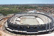 Fortaleza_CE, Brasil.<br /> <br /> Vista area da reforma Estadio Governador Placido Castelo, tambem conhecido como Arena Castelao, ou simplesmente Castelao, e um estadio de futebol brasileiro localizado em Fortaleza, Ceara.<br /> <br /> Aerial view of the works in stadium Governor Placido Castelo, also known as Arena Castelao, or simply Castelao, Its is Brazilian football stadium located in Fortaleza, Ceara.<br /> <br /> Foto: JOAO MARCOS ROSA / NITRO