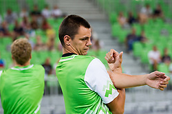 Jure Balazic during basketball match between National teams of Slovenia and Bosna and Herzegovina in day 1 of Adecco cup, on August  3, 2012 in Arena Stozice, Ljubljana, Slovenia. (Photo by Vid Ponikvar / Sportida.com)