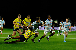 January 8, 2018 - Nanterre, Hauts de Seine, France - Racing Metro 92 Flanker MAXIME MACHENAUD in action during the French rugby championship Top 14 match between Racing Metro 92 and Clermont at U Arena Stadium in Nanterre - France.Racing won 58-6 (Credit Image: © Pierre Stevenin via ZUMA Wire)