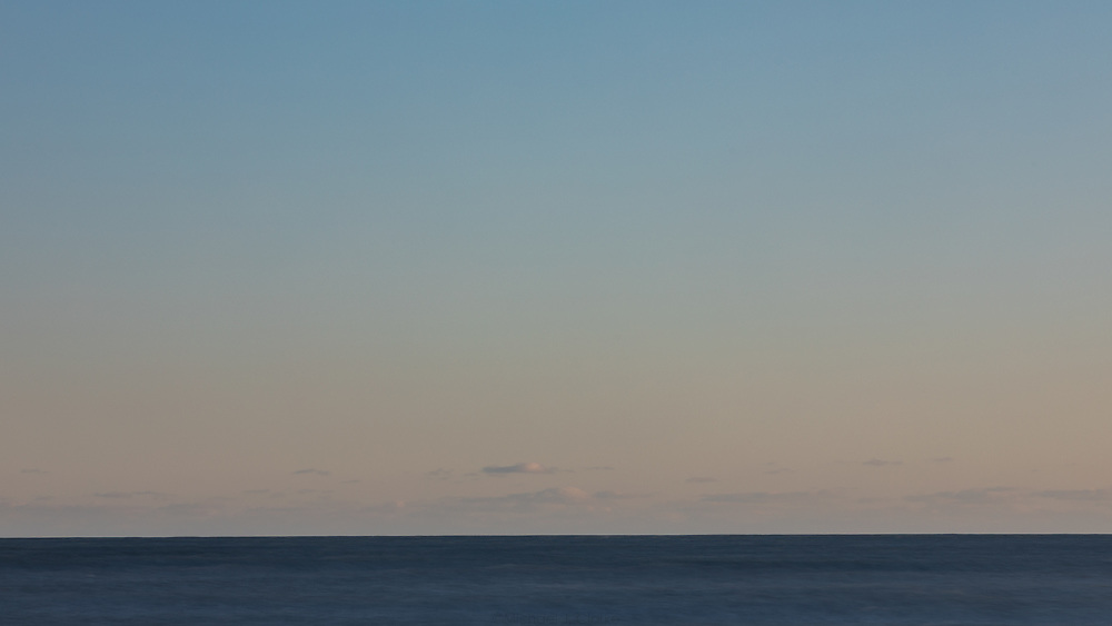 The waters off the coast of Point Judith on a cold and clear winter afternoon.