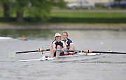 Gent, BELGIUM,   UTRC. Women's pair W2- , competing in the Women's Quads, at the International Belgian Rowing Championships, Saturday 09/05/2009, [Mandatory Credit. Peter Spurrier/Intersport Images]