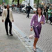 Huwelijk Patrick Kluivert en Angela van Hulten Amsterdam, Dean Gorre en vrouw Magali