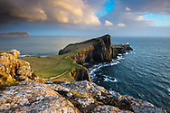 Neist Point Lighthouse on the Isle of Skye, Inner Hebrides, Scotland