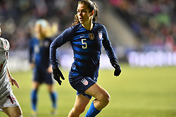 February 27, 2019 - Chester, PA, U.S. - CHESTER, PA - FEBRUARY 27: US Defender Kelly O'Hara (5) runs toward the box in the first half during the She Believes Cup game between Japan and the United States on February 27, 2019 at Talen Energy Stadium in Chester, PA. (Photo by Kyle Ross/Icon Sportswire) (Credit Image: © Kyle Ross/Icon SMI via ZUMA Press)