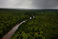 A river in western equatoria on May 28, 2010. The region is one of the most remote in the world which allows the LRA to operate freely.