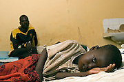 A child is emitted to the Therapeutic Feeding Centre for malnourished children at the Lodwar district hospital, Northern Kenya. Preventable diseases such as malaria, TB and diarrhoea are heavily present within the hospital. The Merlin charity run and helps fund the Therapeutic Feeding Centre.