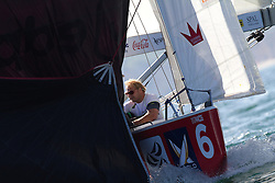 Spinnaker drop on Bjorn Hansen's boat. Portimao Portugal Match Cup 2010. World Match Racing Tour. Portimao, Portugal. 24 June 2010. Photo: Gareth Cooke/Subzero Images