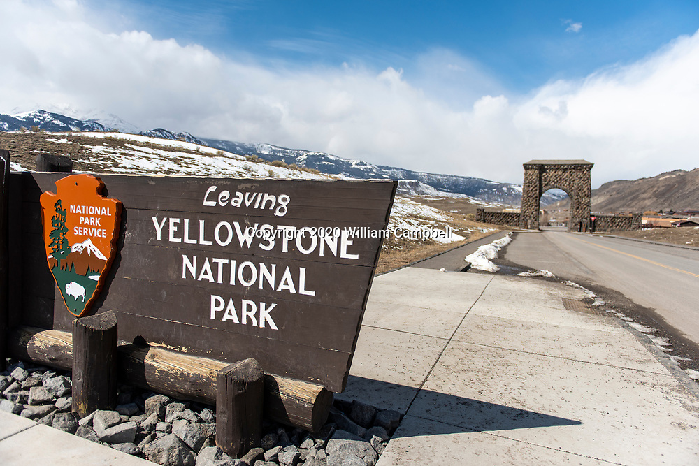 Yellowstone National Park, MT-March 24,2020: Yellowstone National Park closed to visitors on March 24, 2020 because of the Covid-19 virus threat to communities sounding Yellowstone. (Photo by William Campbell-Corbis via Getty Images)
