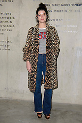 Pixie Geldof on the front row at the House of Holland Autumn/Winter 2017 London Fashion Week show at Tate Modern, London.PRESS ASSOCIATION Photo. Picture date: Saturday February 18th, 2017. Photo credit should read: Matt Crossick/PA Wire.